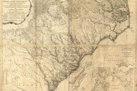 Map - 1777 – Carolina Septentrionale et Meridionale en 4 Fueilles, Traduite de L'Anglois