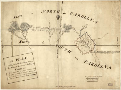 Map - 1777? - A Plan of that part of the Boundary Between the States of North and South Carolina