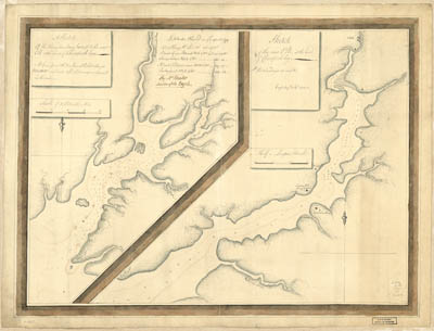 Map - 1777 – A Sketch of the Navigation from Swan Pt. To the River Elk and the Head of the Chesapeake Bay
