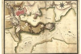 Map - 1781 – Ville, Port, et Rade de Baltimore dans le Maryland
