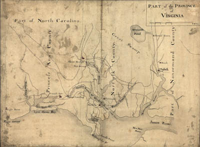 Map - 1791 – Part of the Province of Virginia