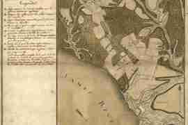 Map - 1781 – Plan du Terrein a la Rive Gauche de la Riviere de James vis-a-vis Jamestown en Virginie