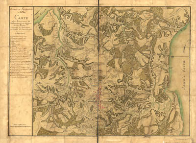 Map - 1782 – Armee de Rochambeau – Carte des Environs de Williamsburg en Virginia