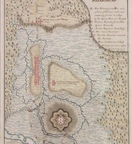 Map - 1788 – Plan of the Post at Great Bridge, on the South Branch of the Elizabeth River, Virginia