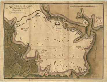 Map - 1781 – Plan des Ouvrages de Portsmouth en Virginia