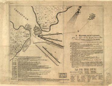 Map - 178? - A Representation of the Sea Fight on the 5th September, 1781 Between Rear Admiral Graves and the Count de Grasse