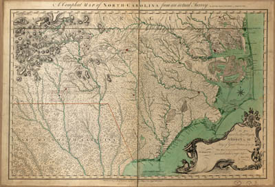 Map - 1770 – A Complete Map of North-Carolina from an Actual Survey