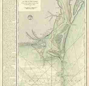Map - Plan de la Riviere du Cap Fear