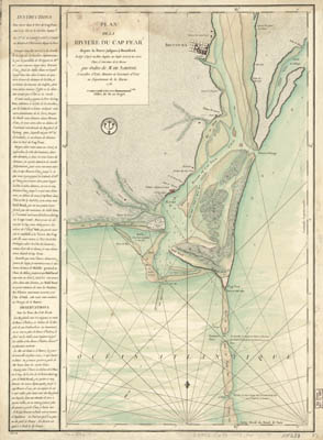 Map - Plan de la Riviere du Cap Fear