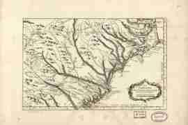 Map - 1764 – La Caroline dans L'Amerique Septenrionale Suivant les Cartes Angloises