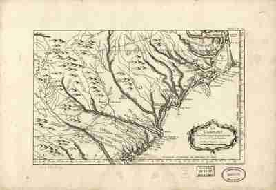 Map - 1764 – La Caroline dans L'Amerique Septentrionale Suivant les Cartes Angloises