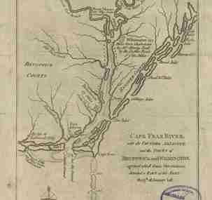 Map - 1781 – Cape Fear River