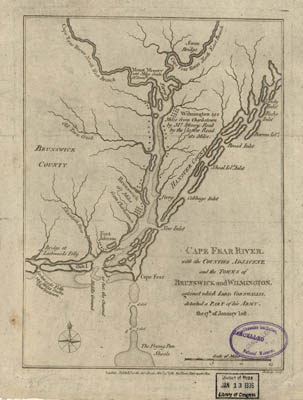 Map - 1781 – Cape Fear River