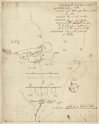 Map - 1781 – Battle of Guilford Fought on the 15 of March 1781