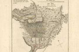 Map - 1787 – Battle of Guilford Fought on the 15 of March 1781