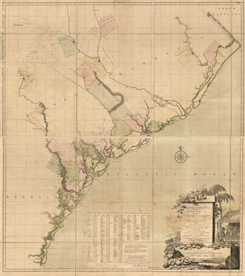Map - 1757 – A Map of South Carolina and a Part of Georgia