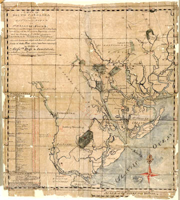 Map - 1771 – A Map of South Carolina from the Savannah Sound to St. Helena's Sound