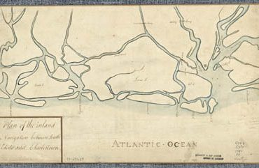 Map - 178? - Plan of the Inland Navigation Between South Edisto and Charlestown