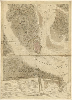 Map - 1780 – A Sketch of the Operations before Charlestown, the Capital of South Carolina