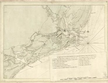 Map - 1780 – A Sketch of he Environs of Charlestown in South Carolina