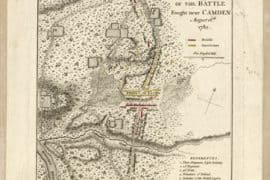 Map - 1787 – Plan of the Battle Fought Near Camden, August 16th, 1780