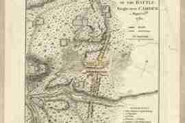 Map - 1787 – Plan of the Battle Fought Near Camden, August 16th, 1780