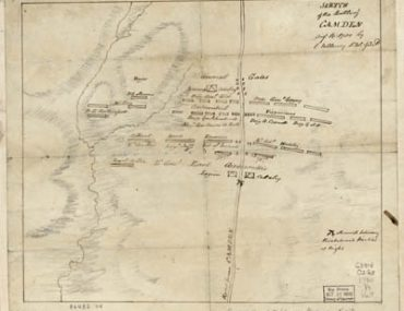 Map - 1780 – Sketch of the Battle of Camden, August 16th, 1780
