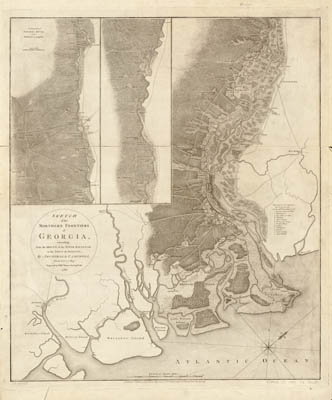 Map - 1780 – Sketch of the Northern Frontiers of Georgia from the River Savannah to the Town of Augusta