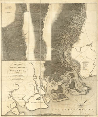 Map - 1780 – Sketch of the Northern Frontiers of Georgia (includes parts of South Carolina)
