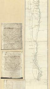 Map - 1779 – Roads and Country that Col. Campbell Marched through Ebenezer to Augusta in Georgia