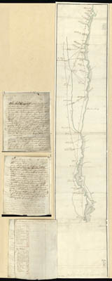 Map - 1779 – Roads and Country that Colonel Campbell Marched Through Ebenezer to Augusta Georgia