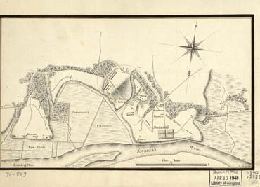 Map - 1778 – Taking of Savannah in December 1778