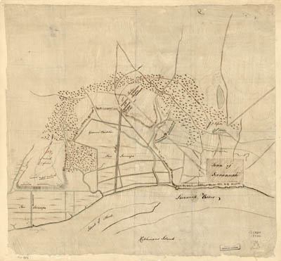 Map - 1778 – The Taking of Savannah in December 1778