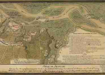 Map - Siege de Savannah fait par les Troupes Francoises