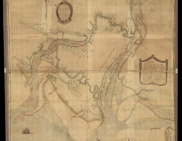 Map - 1751 – A Plan of the Inlets and Rivers of Savannah and Warsaw in the Province of Georgia
