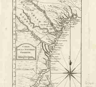 Map - 1764 – Carte de la Nouvelle Georgia