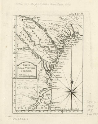 Map - 1764 – Carte de la Nouvelle Georgia