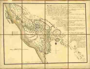 Map - 1778 – Plan de la Retraite de Barren Hill en Pansilvanie (Battle Map)