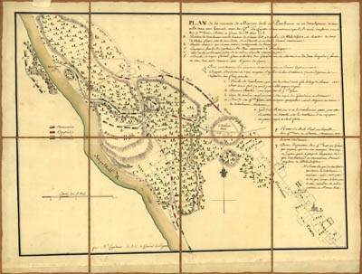 Map - 1778 – Plan de la Retraite de Barren Hill en Pansilvanie (Battle Map)
