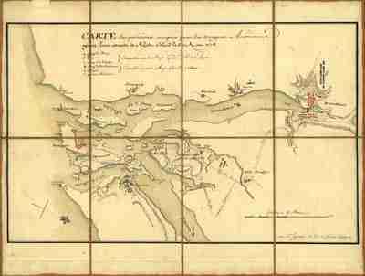 Map - 1778 – Carte des Positions Occupees par les Trouppes Americaines apres leur de Rhode Island le 30 Aout 1778