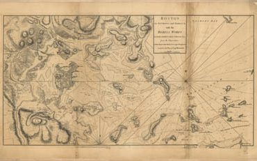 Map - 1778 – Boston, its Environs and Harbour, with the Rebels' Works Raised Against that Town in 1775
