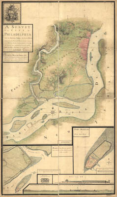 Map - 1777 – A Survey of the City of Philadelphia and its Environs