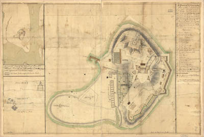 Map - 1771 – A General and Particular Plan of the Island of Castle William Near Boston