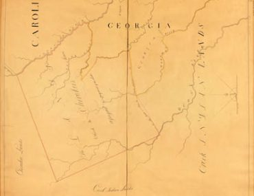 Map - 19?? - Map Showing Indian Land Circa 1772