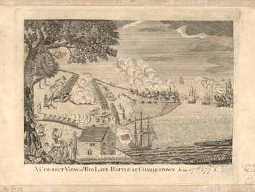 Map - 1775 – A Correct View of the Battle of Charlestown, June 17th, 1775