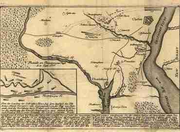 Map - Zehn Karten Ansichten den Schlachtfelden des Amerikanischen Unabhangigkeitskreiges in den Staaten Pennsylvanien and New York