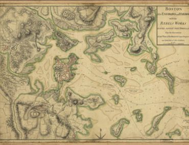 Map - 1775 – Boston, its Environs and Harbour, wit the Rebel's Works Raised Against that Town in 1775