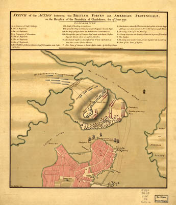 Map - 1775 – Sketch of the Action Between the British Forces and American Provincials