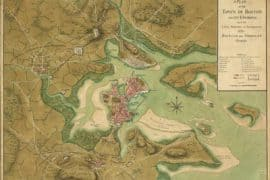 Map - 1776 – A Plan of the Town of Boston and its Environs, with the Lines, Batteries, and Encampments of the British and American Armies
