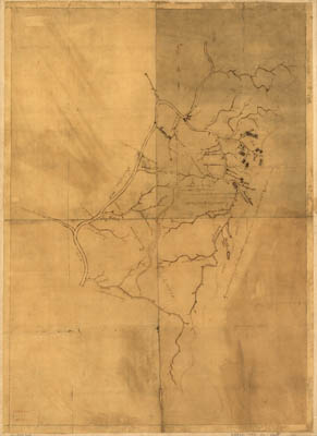 Map - 1780 – A Map of the Land About Red Stone and Fort Pitt, Given to Me (George Washington) by Captain Crawford